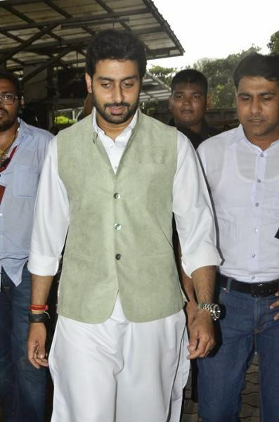Abhishek Was Spotted Making A Trip To The Vinayak Temple Yet Another Time