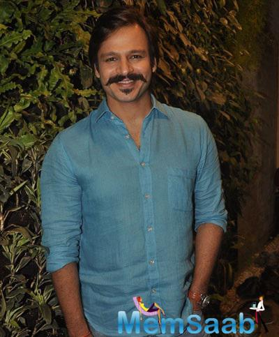 Vivek Oberoi Pose For A Picture During An Interview For Blood Donation Drive