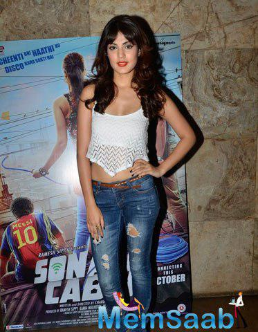 Rhea Chakraborty Hot Chic Look During The Sonali Cable Movie Trailer Launch Event