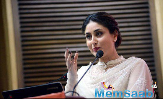 Kareena Kapoor Khan Addressing Media During The Launch Of UNICEF Child-Friendly Schools And Systems Package