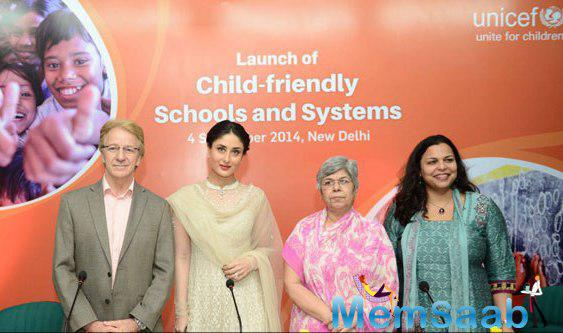 Kareena Kapoor Khan At The Launch Of UNICEF Child-Friendly Schools And Systems Package