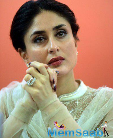 Kareena Kapoor Khan Serious Look Captured By Camera At The Launch Of UNICEF Child-Friendly Schools And Systems Package