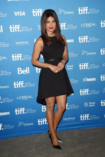 Former Beauty Queen Priyanka Looked Stunning At The News Conference For  Mary Kom At TIFF In Toronto