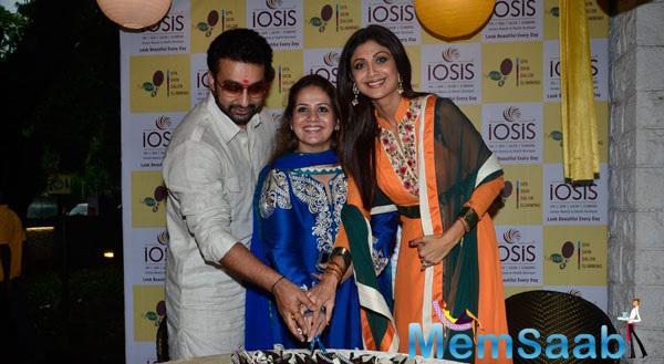 Shilpa,Raj And Her Business Partner Kiran Bawa Opened Their Spa And Wellness Chain IOSIS
