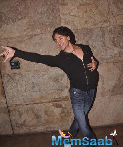 Bollywood Hunk Tiger Shroff Performing At His Video Launch