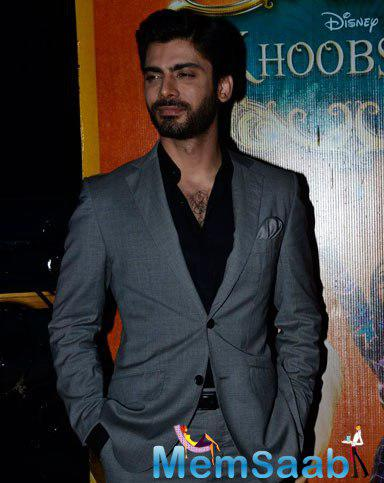 Fawad Khan Looked Handsome In A Grey Suit For Shutterbug At Khoobsurat Music Launch