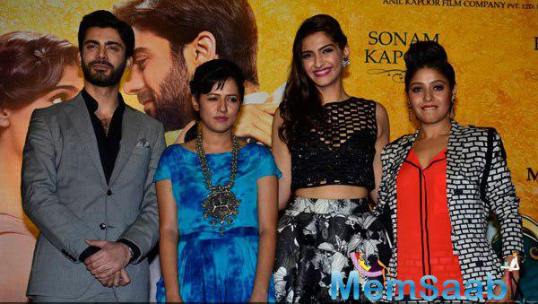 Fawad,Sneha,Sonam And Sunidhi Presented At The Music Launch Of Khoobsurat