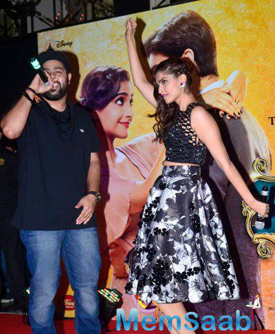 Sonam Kapoor In A Party Mood At The Music Launch Of Her Upcoming Movie Khoobsurat