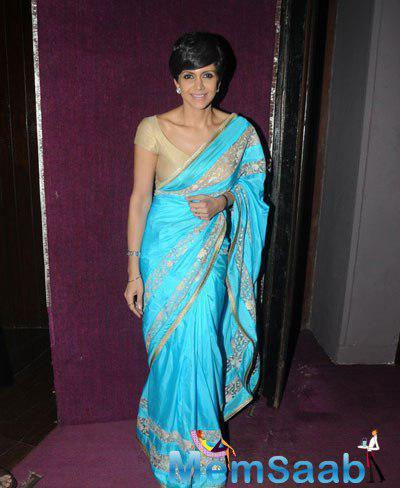 Mandira Bedi In Saree Stunning Look Posing For The Shutterbug