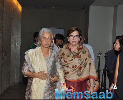 Waheeda Rehman And Helen Khan Arrived For Watching The Screening Of Mary Kom Movie