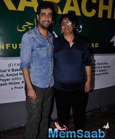 Ashish R Mohan And Vashu Bhagnani Posed For Camera At New Film Welcome 2 Karachi Launching Event