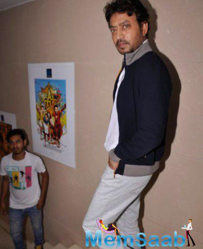 Irrfan Khan Posed At The Launch Of Vashu Bhagnani New Film Welcome 2 Karachi