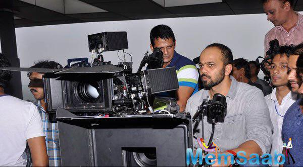 Rohit Shetty Serious Pose Captured By Camera At The Launch Of Vashu Bhagnani New Film Welcome 2 Karachi
