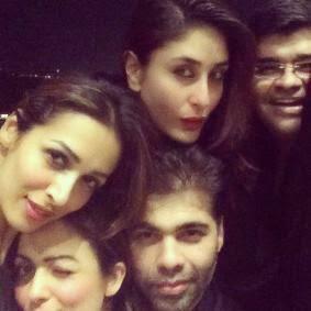 Malaika,Amrita,Karan And Kareena Take A Selfie During The Night Out Party