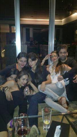 Malaika,Kareena,Amrita And Karan Attend The Night Out Party Hosted By Karan Johar