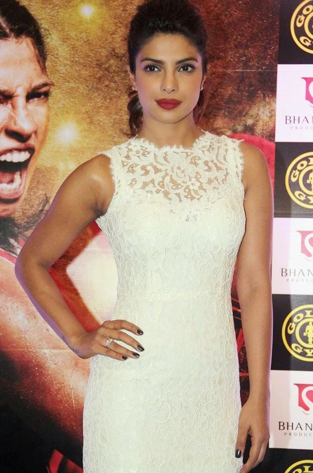 Priyanka Chopra Fabulous Look During The Promotion Of Mary Kom In Gold Gym