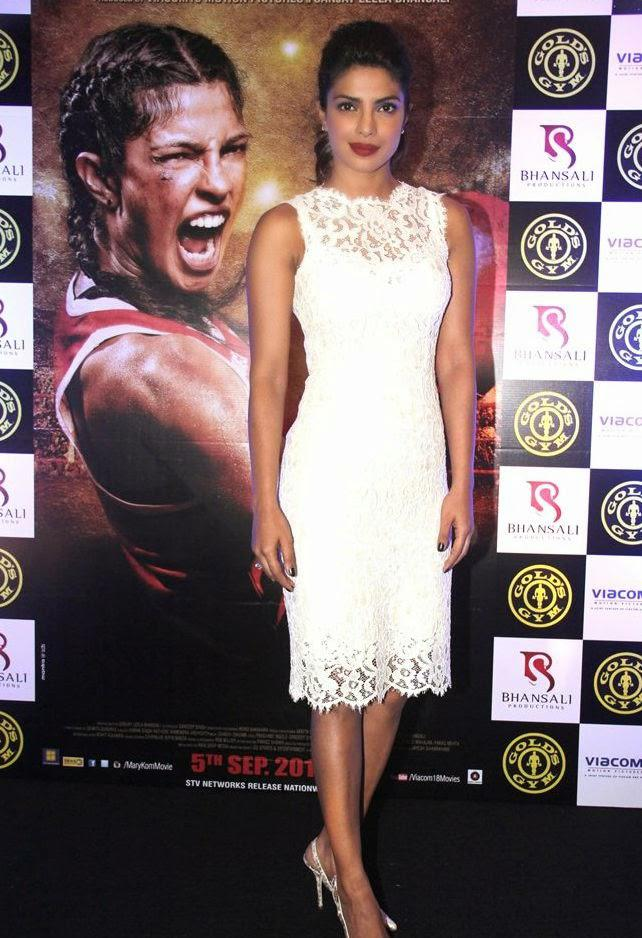Priyanka Chopra Sexy Hot Look During The Promotion Of Mary Kom At Gold Gym