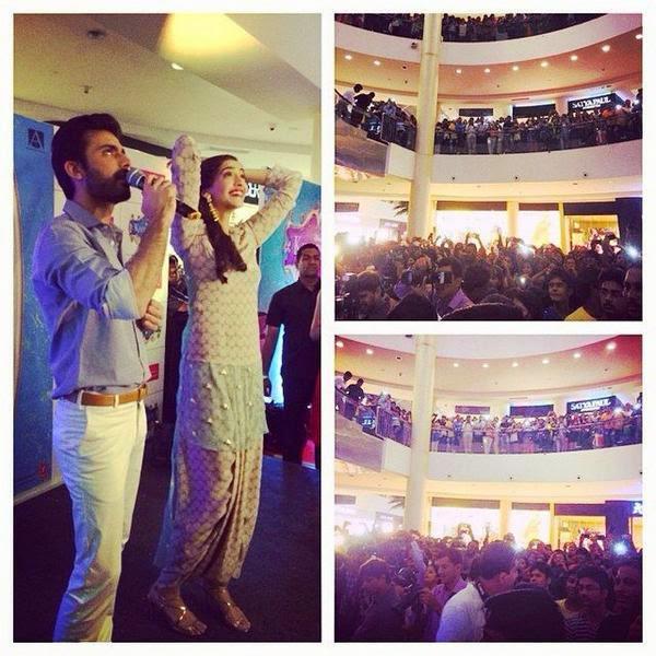 Fawad Khan And Sonam Kapoor Promote Khoobsurat Movie At Viviana Mall, Thane