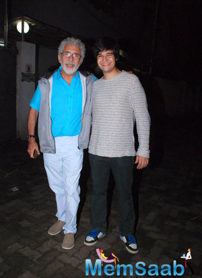 Naseeruddin With His Son Vivaan Shah Attend The Special Screening Of Finding Fanny