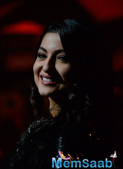 Gauhar Khan Smiling Pose On The Sets Of India's Raw Star