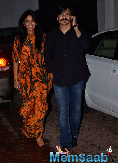 Vivek Oberoi And Wife Priyanka Attended Birtday Bash Of Shilpa Shetty's Hubby