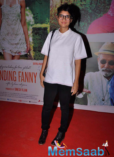 Kiran Rao Pose For Camera At Lightbox In Mumbai During Finding Fanny Screening