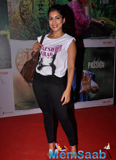 Pallavi Sharda Snapped To Watch Finding Fanny Screening