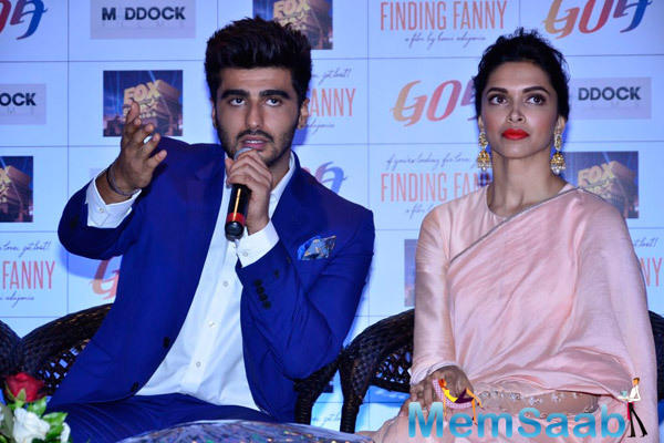 Arjun Kapoor Interacts With Media During The Promotion Of Finding Fanny At Goa Tourism Event