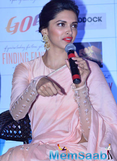 Deepika Padukone Spokes About Her Movie During It's Promotion At Goa Tourism Event