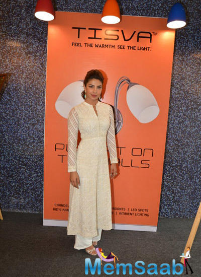 Priyanka In Anita Dongre Outfit Grace An Event By Usha International At The Hab In Mumbai