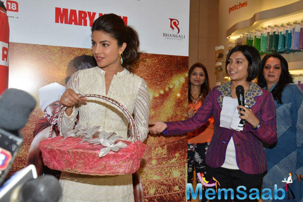 Priyanka Celebrates Usha Sewing Machines Association With Mary Kom And Women Empowerment