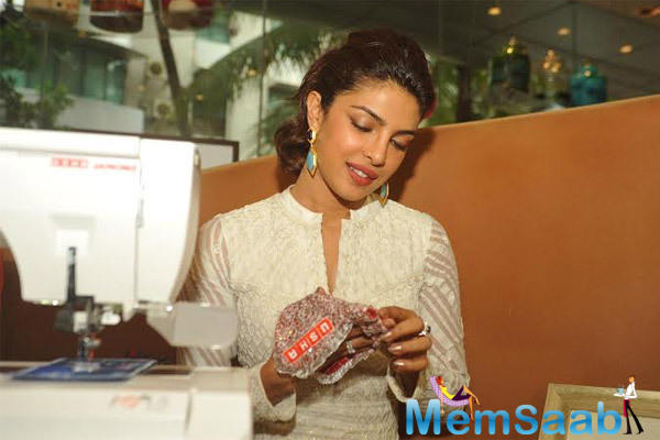 Priyanka At Event By USHA Sweing Machines Which Aim At Women Empowerment
