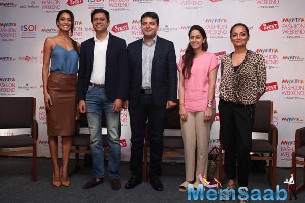 Lisa Haydon Present At Myntra Fashion Weekend India 2014 Press Meet