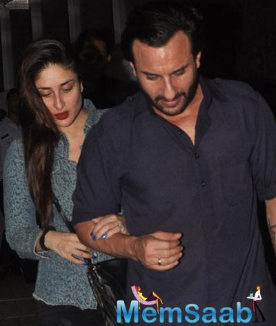 Kareena Kapoor And Saif Ali Khan Were Seen Hand-In-Hand At Bandra