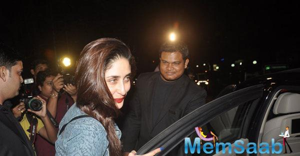 Kareena Kapoor Sported Bright Red Lipstick For Dinner Date With Hubby Saif