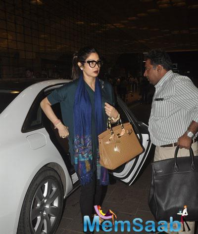 Sridevi Spotted At Mumbai International Airport With A Stunning Look