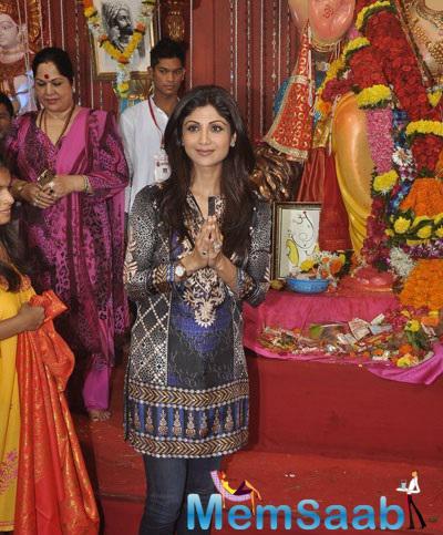 Shilpa Shetty Visited Andheri Cha Raja Ganpati To Seek Blessings Of The Lord