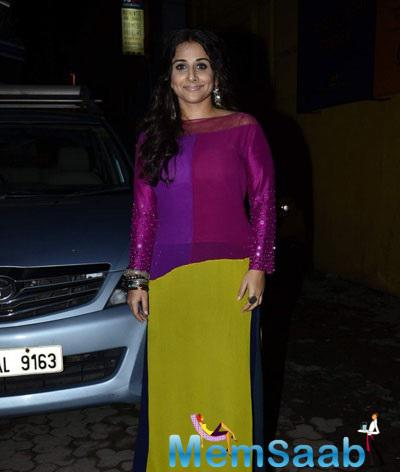 Vidya Balan In Manish Malhotra Spotted At A Charity Music Concert In Mumbai