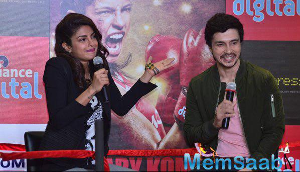 Priyanka Chopra And Darshan Kumaar Interact With Media At The Promotional Event Of Mary Kom
