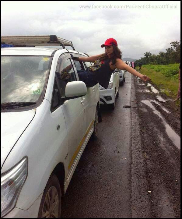 Parineeti Chopra Cool Posed During The Promotion Of Daawat- E Ishq On A Road Ride