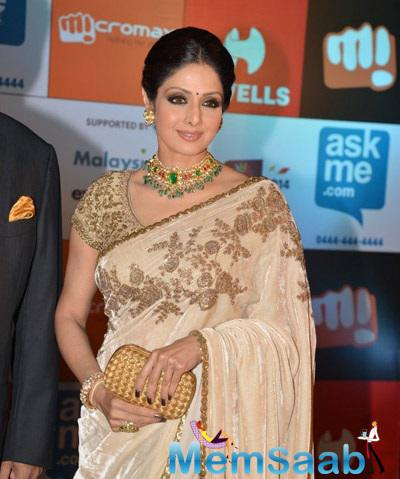 Sridevi Attended The South Indian International Movie Awards