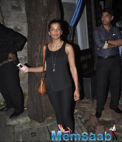 Mugdha Godse Spotted In Cool Black Tee At Nido Restaurant