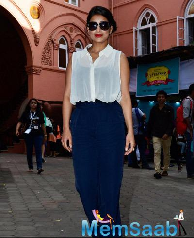 Actress And Dancer Pallavi Sharda Glamour Look At Kaleidoscope Festival Of Sophia College