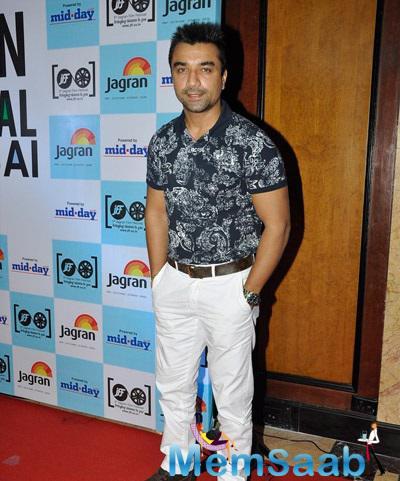 Former Bigg Boss Participant Ejaz Khan Grace Jagran Film Festival 2014