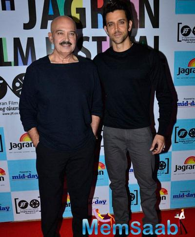 Star Father-Son Duo Rakesh And Hrithik Roshan Were Photographed At The Do Too