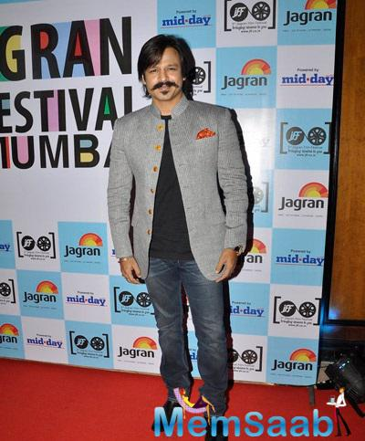 Vivek Oberoi Looked Dapper In His Respective Outfits At Jagran Film Festival