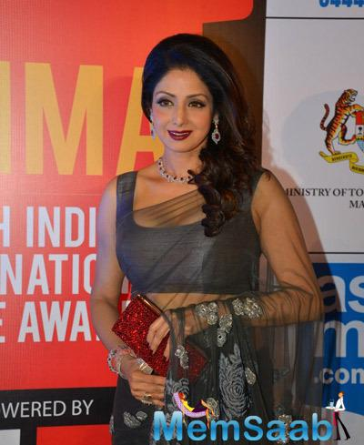 Sridevi Kapoor Attractive Look At Micromax SIIMA Awards 2014 On Day 2