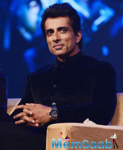 Sonu Sood Sweet Smile Fresh Look Still At Happy New Year Music Launch