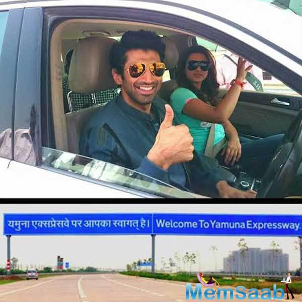 Aditya And Parineeti Food Yatra Towards The Yamuna Express Way