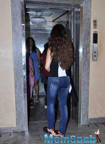Sangeeta Bijlani Enter In A Lift During The Party Event At PVR Juhu
